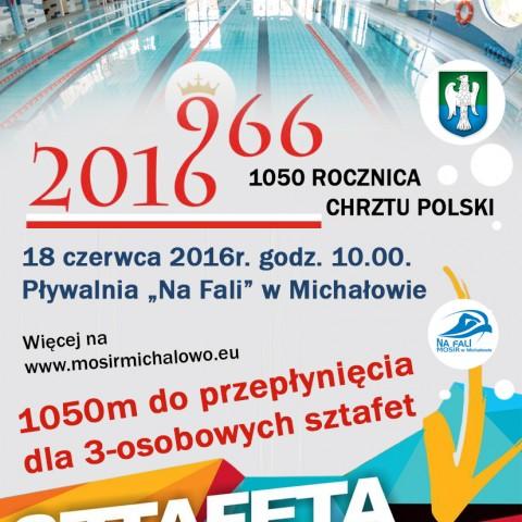 Zawody Pływackie 1050 rocznica Chrztu polski - 1050 m.